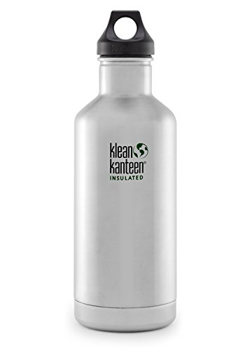 Klean Kanteen 32oz  Classic Vacuum Insulated (w/Loop Cap) Brushed Stainless