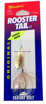 Wordens Single Hook Rooster Tail Lure, 1/8-Ounce, Brown