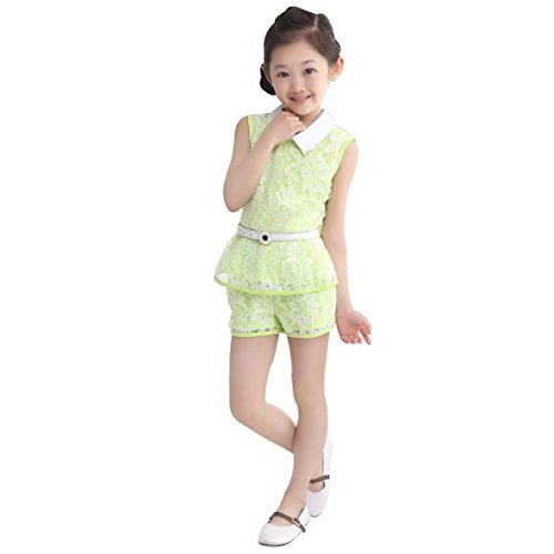 JET-BOND Little Girls Cloth Dress Short Sets T-shirts Skirts Tops Colorful Printings Lace Silk Cotton Jersey for 3-10 Ages BB22 (7, (High Five Mesh Jersey)