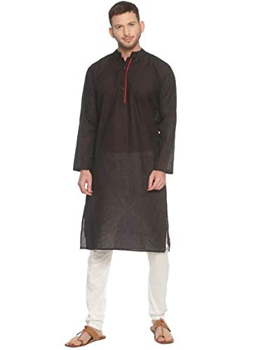 PAROKSH nagari Cotton Black dot Long Ethnic Kurta