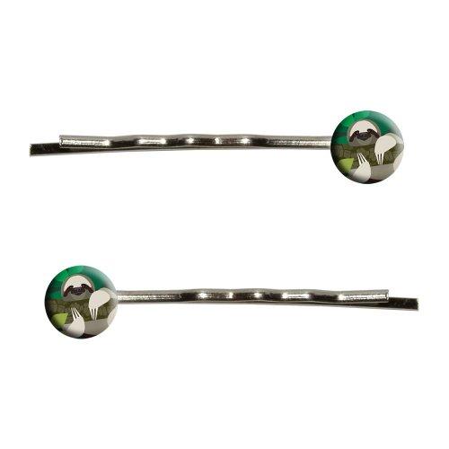 geometric sloth bobby pins barrettes