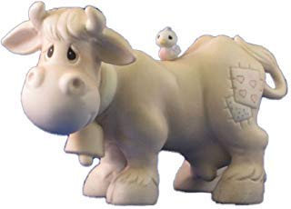 Precious Moments Nativity Cow With Bell