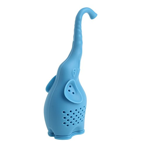 Zczhang fish858 Silicone Animal Elephant Loose Shape Leaf Herb Spiece Tea Mug Cup Filter Infuser (Leaf Elephant)