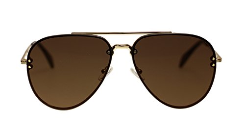 Celine Unisex Sunglasses Cl41391 J5G/LC Gold/Violet Lens Aviator 60mm Authentic