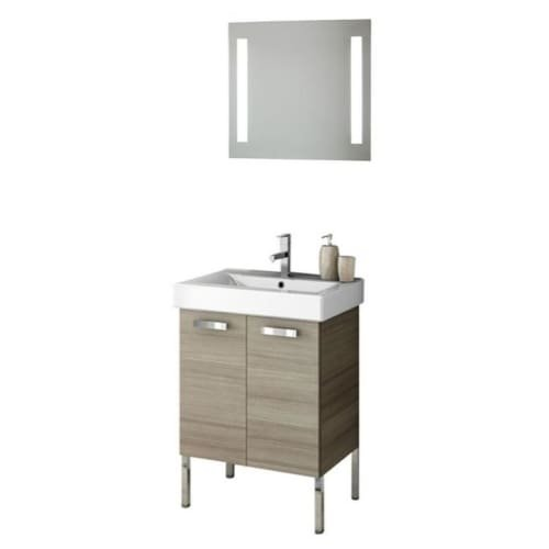 Nameeks C102 ACF 22″ Wall Mounted Vanity Set with Wood Cabinet, Ceramic Top with, Larch Canapa
