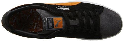 Puma Mens Mocka Ränder Och Blockerar Klassiska Sneaker Guld Fusion / Russet Orange / Svart