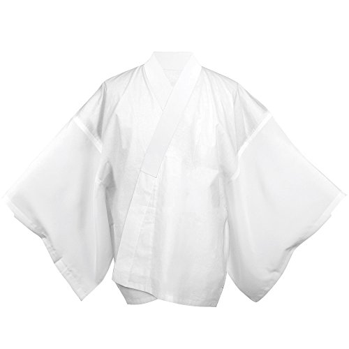 KYOETSU Men's Japanese Summer Kimono Undergarment Short Type Hanjuban (Large) by KYOETSU