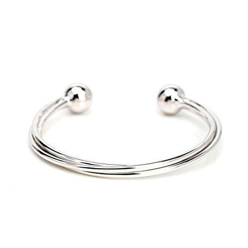 United Elegance Stylish Multi Strand Intertwined Designer Bangle Bracelet