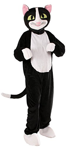 Forum Novelties Men's Catnip The Cat Plush Mascot Costume, Black, One Size -