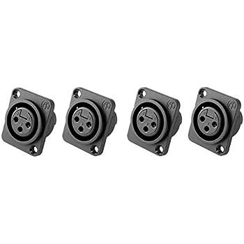 24 Pack Neutrik NC3FPP Female 3-Pin Mic XLR Panel Mount Non-Latching Connector