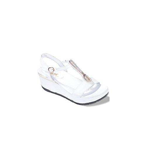 Mujer De Vestir Blanco Para Piel Melluso Sandalias 38 gqU1ZZ