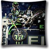 Monster Energy Motocross Cotton Polyester Home Decorative Accent Throw Pillow Cover Cushion Case Pillowcase for Sofa 18-Inch (Monster Energy Comforter compare prices)