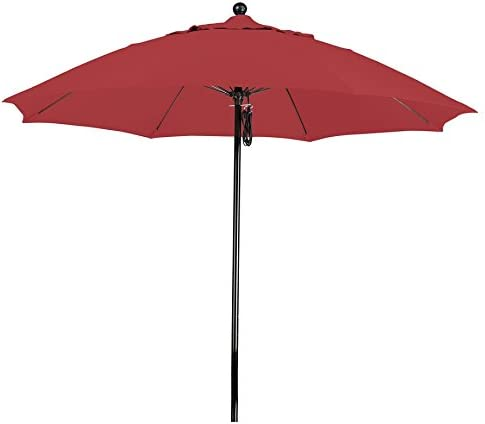 California Umbrella 9' Round 100 Fiberglass Frame Market Umbrella