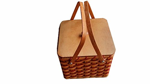 Hand Woven Triple Pie Carrier Basket-Amish Made In Ohio