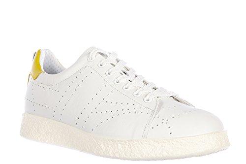 Bikkembergs scarpe sneakers uomo in pelle nuove best 318 bianco
