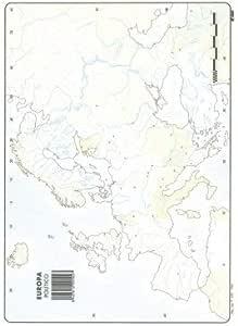 Mapa Mudo Europa Político A4 (10 ud.): Amazon.es: Oficina y papelería