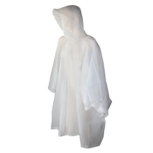 Totes Clear Adult Rain Poncho