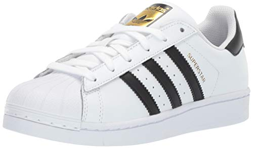 adidas Kids' Superstar Foundation EL C Sneaker, White/Black/White, 3 M US Little Kid