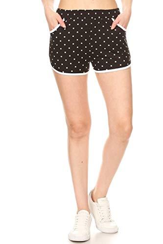 Leggings Depot RSB-R885-XL Polka Dots Short Pants w/Pockets, XL