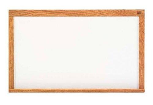 Marsh Pro-Rite 48X60 White Porcelain Markerboard, Red Oak Wood (60 Oak Wood Trim)