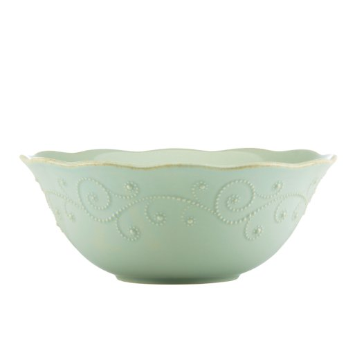 Lenox French Perle Serve Bowl, Ice Blue