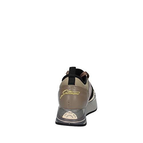 Shoe Gattinoni Pu gold Pigma6120wri444 laminated Woman Taupe Sport Calf rnnwOBEq