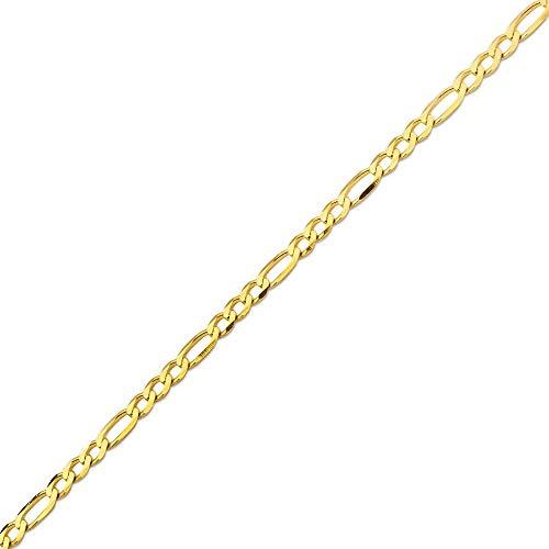 "Mr. Bling 10K Yellow Gold 5.5mm Solid Figaro Chain Bracelet W/Lobster Lock (9"")"