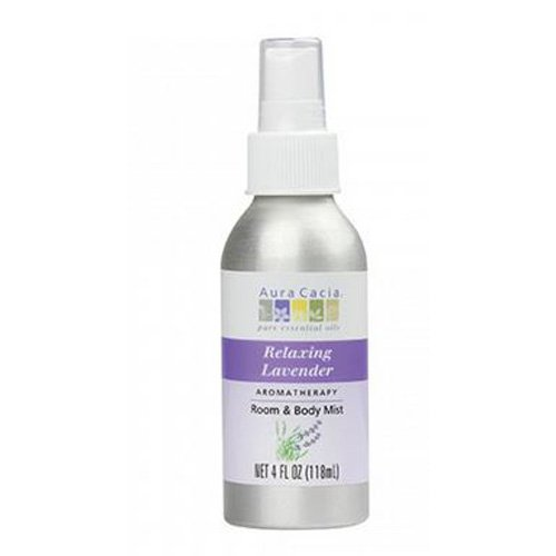 Aura cacia Relaxing Lavender Aromatherapy Room & Body Mist 4 Oz (pack of 4) by Aura Cacia