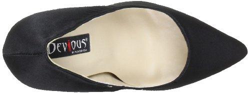 Pleaser EU-SEXY-20 - Zapatos de tacón de material sintético mujer negro - Schwarz (Blk Satin)