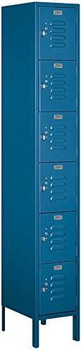 B005IG6MSU Salsbury Industries 66165BL-U Six Tier Box Style 12-Inch Wide 6-Feet High 15-Inch Deep Unassembled Standard Metal Locker, Blue 31vTOQWfQsL