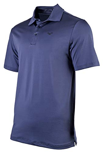 (Urban Fox Men's Golf Shirts for Men | Short Sleeve Performance Polo Shirts for Men | Heather Dry Fit | Moisture Wicking | Navy X-Large)
