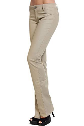 5f36b813fb0cc TheMogan DICKIES GIRL Slim Fit Bootcut Leg Worker Pants Mid Rise School  Uniform