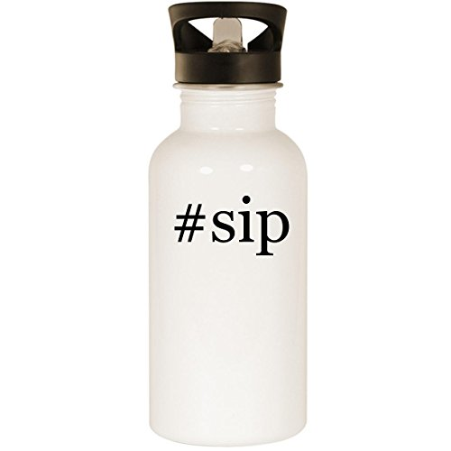 #sip - Stainless Steel Hashtag 20oz Road Ready Water Bottle, White