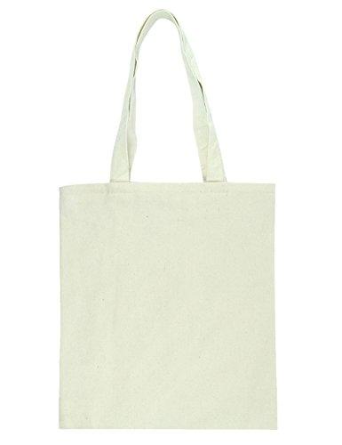 [POPUCT Pure Cotton Canvas Shoulder Hand Bag(white-2)] (100% Cotton Canvas Bag)