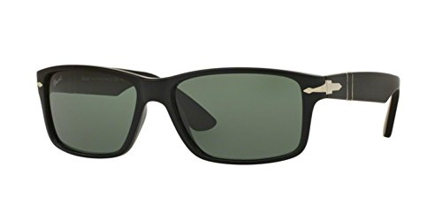 Persol Mens Sunglasses (PO3154) Black Matte/Green Plastic - Polarized - - Persol Glasses
