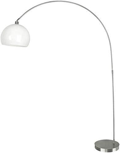 Fan Europe i-plaza/PT Bco lámpara de pie con tulipa redonda, cristal, 40 Watts, blanco: Amazon.es: Iluminación