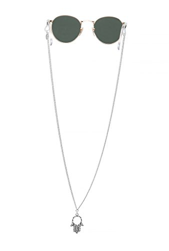 Sintillia Hamsa Hand Backlace Sunglass Strap, Glasses Chain, Eyeglass Cord (Regular Silver Chain with Clear - Croakies Cute
