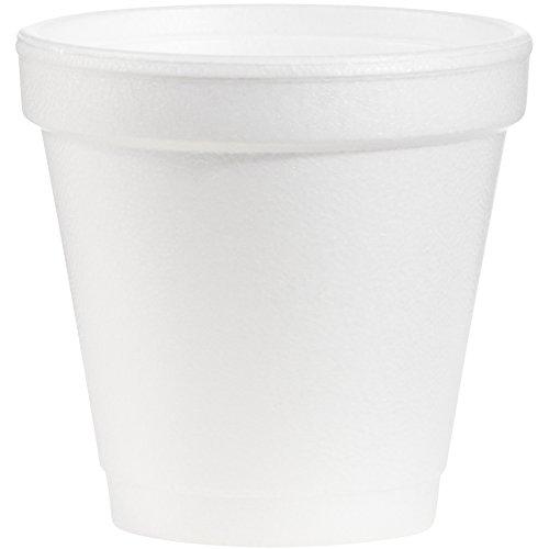 Dart 4 Ounce Foam - Dart 4J4 4 oz Foam Cup, 4 Series Lids (Case of 1000)