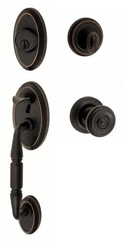 Fusion Hardware H-38-S3-0-ORB Cambridge Weston Handleset with Two-Piece Interior, Oil Rubbed Bronze
