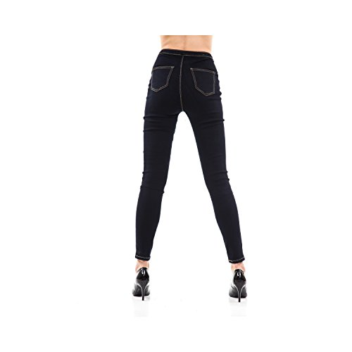 Tasche Skinny Jeans Scuro Pantaloni Fit Da Donna Denim Blu In 5 tRdYwq