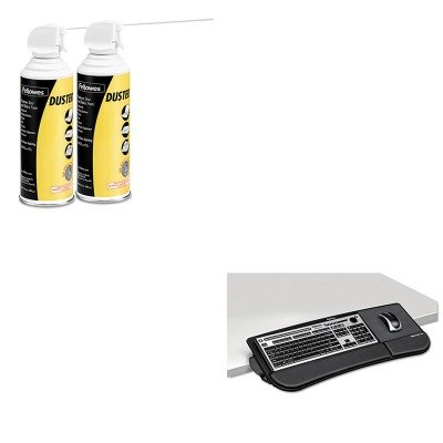 KITFEL8060101FEL9963201 - Value Kit - Fellowes Tilt 'N Slide Keyboard Manager (FEL8060101) and Fellowes Air Duster (FEL9963201)