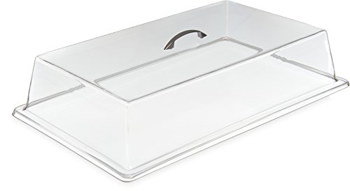 Carlisle SC2707 Acrylic Cafeteria Pan Cover, 4.25'' x 11.37'' x 19.31'', Clear (Case of 3) by Carlisle
