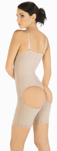 Slim Powernet Braless Above The Knee Body-Shaper Style 1009 - Black - XLarge
