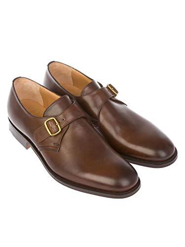 BECKETCALFBROWNEBONY Uomo Strap Monk CHURCH'S Marrone Pelle StvqW