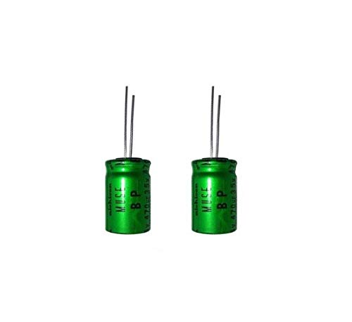 2 x Nichicon Muse Es 47uf 16v Elektrolytkondensator Bipolar Ues1c470mpm