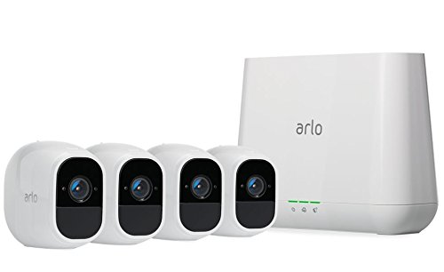 Arlo - Pro 2 Security Camera System, 4-Camera Kit, Wire-Free, 1080p, Weather Proof, Indoor/Outdoor - White