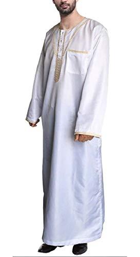 security Men Dress Arab Robes Middle Eastern National Costume Muslim Robes...