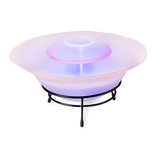 Superbigsale Multimode Tabletop Mist Maker Water Humidifier Fountain Lamp 12-LED Color Changing,Pink bowl - Lamp Maker Mist