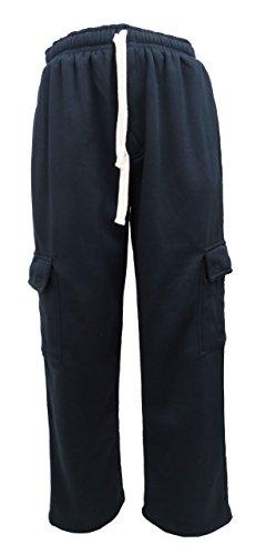 Henry & William Men's Basic Fleece Cargo Pants 2X Navy
