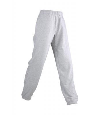 JAMES & NICHOLSON Men Jogging Pants Jogginghose Herren, Größe M;Farbe Grau heather
